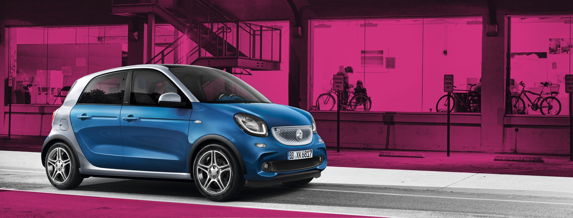 smart forfour an ideal city car with four seats. Black Bedroom Furniture Sets. Home Design Ideas