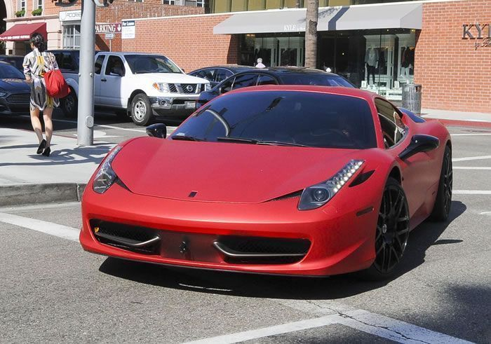 Justin Bieber Drives Around Beverly Hills In His Newly