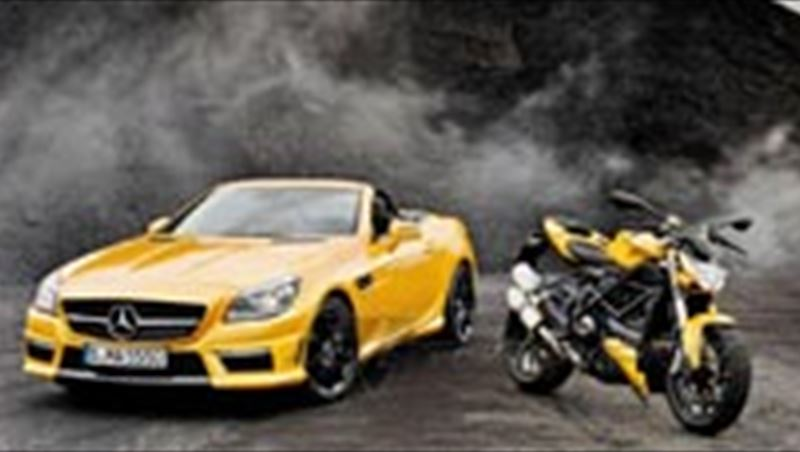 2012 SLK 55 AMG and Ducati Streetfighter 848