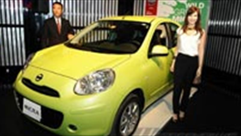 2012 Micra compact hatchback and Nancy Ajram