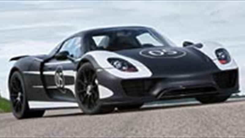 2012 Porsche 918 Spyder is on the road
