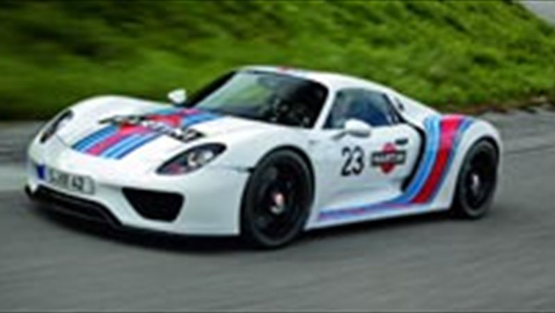 2012 Porsche 918 Spyder in Martini Racing Design