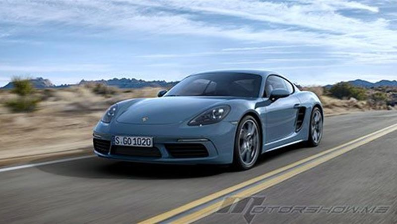 2016 Porsche 718 Cayman and Cayman S