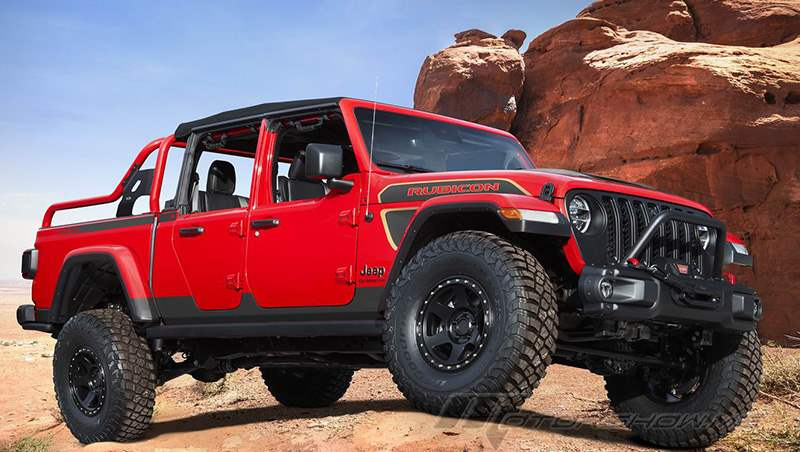 2021 Red Bare Gladiator Rubicon