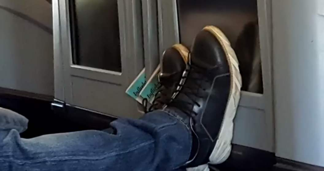 Feet Smashing Planes' Monitors