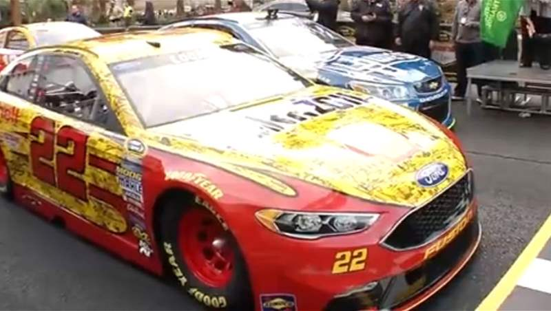 NASCAR Champions Burn Up the Las Vegas Strip 2016
