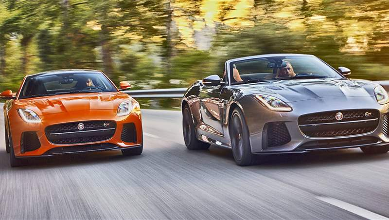 Jaguar F-Type SVR Coupe and Cabrio 2017