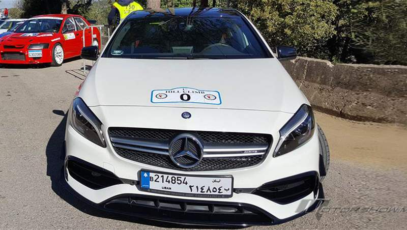 Nadim Mehanna on board the 2018 Mercedes-AMG A 45 at Arsoun