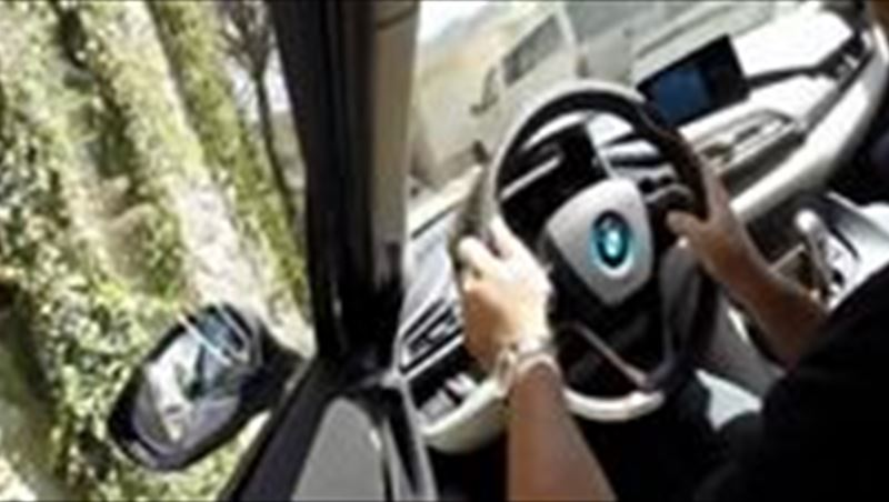 Promenade in Hollywood in BMW i8 2014