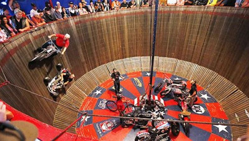 Wall of Death at Sturgis Motorcycle Rally 2014