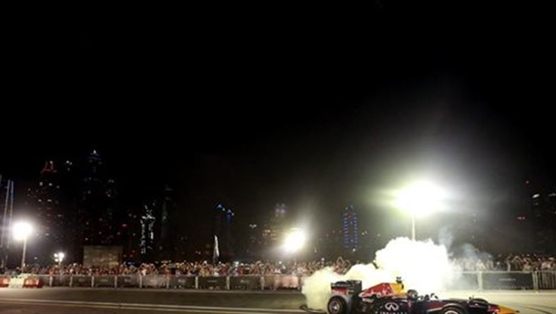Infiniti RBR Dubai F1 Activation 2014
