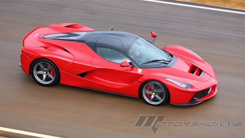 Ferrari LaFerrari Extreme Drive on wet MotorShow Exclusive!