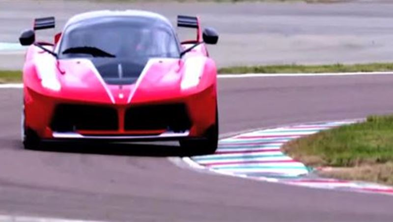 Sebastian Vettel test drives the Ferrari FXX-K 2015