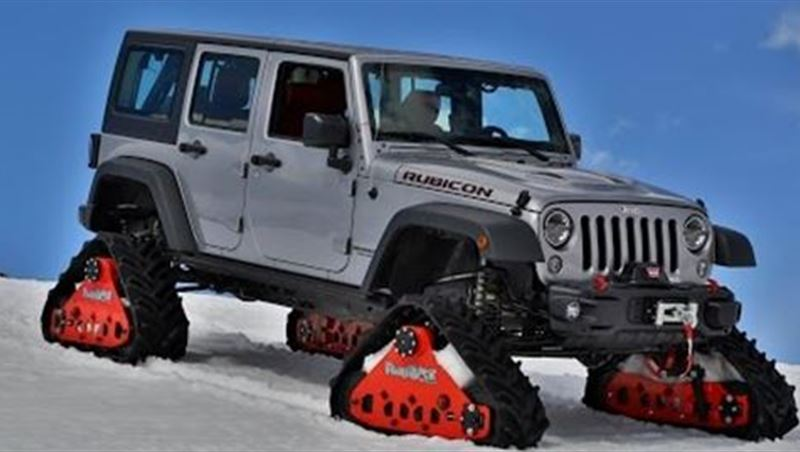 Jeep Wrangler Rubicon 2016 with Mattracks