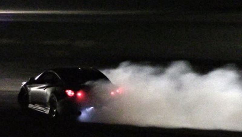 Drifting at night in Down Town Beirut Residential Areas