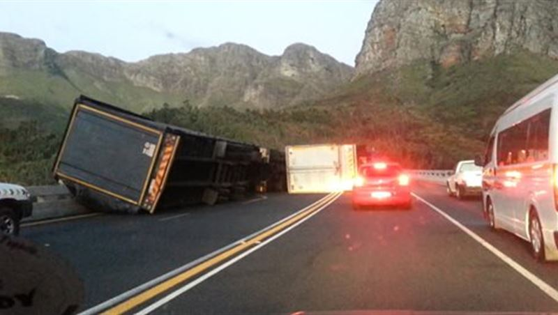 Trucks Overtaking Inside Tunnel