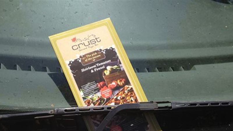 Ads On The Wipers Such As Delivery Menu