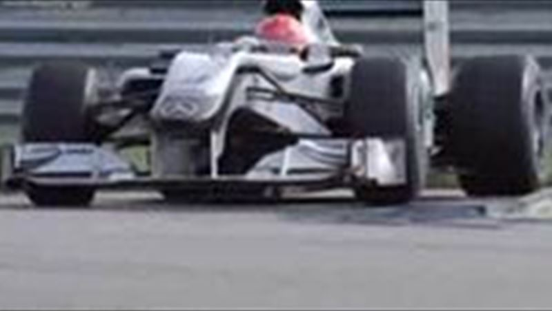Michael Schumacher talks about his F1 Car and SLS AMG TVC