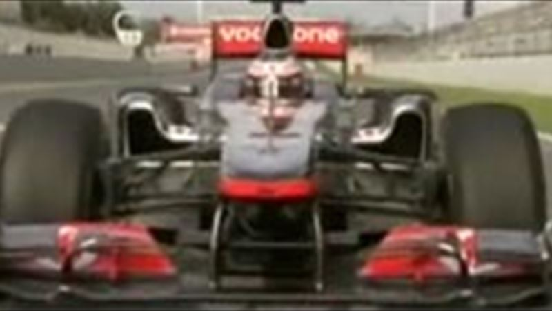 2011 Mclaren Mercedes MP4-26 tested by Hamilton and Button