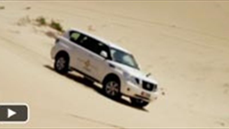Mark Webber in Desert off-road, camel ride and falconry
