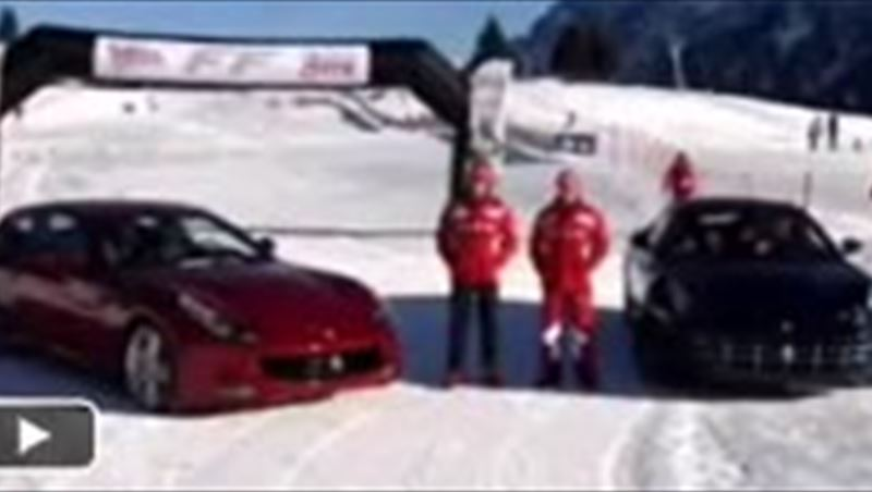 Ferrari challenge 2011 and FF on snow with Alonzo and Massa