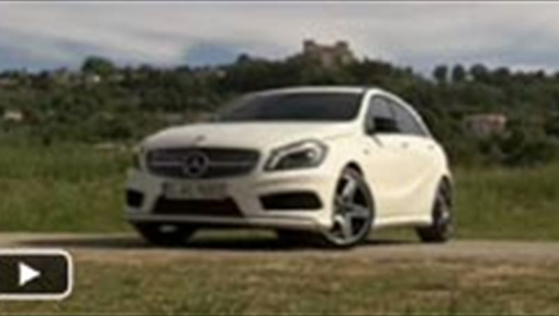 Michael Schumacher, Nico Rosberg and the German National Football Team Drive the New A Class