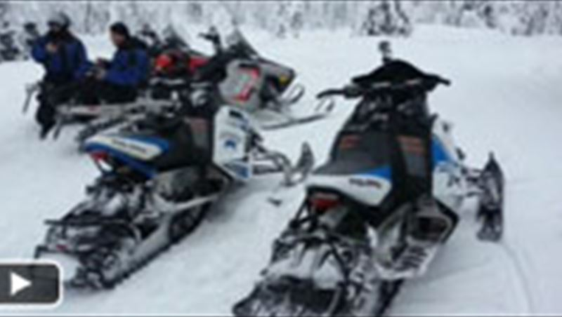 Snowmobile in Sweden 2013