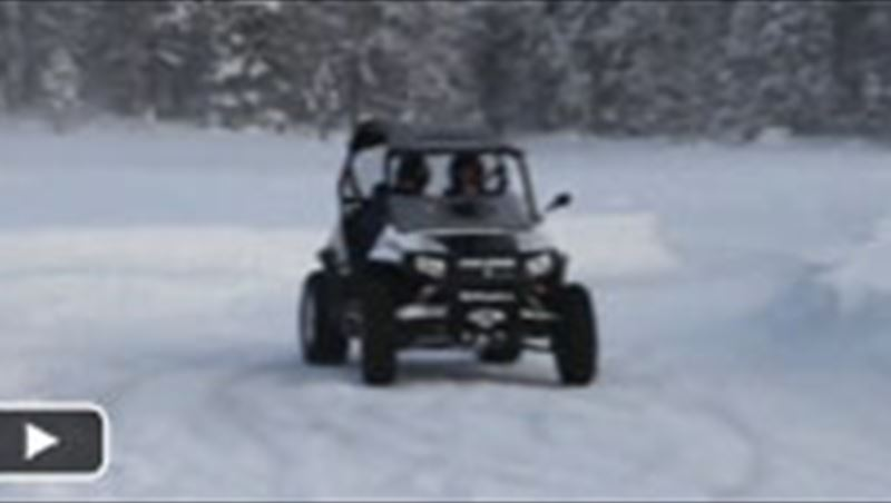 Polaris RZR Quad on Snow 2013