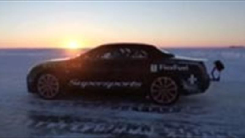 Bentley sets speed record on ice with Juha Kankkunen