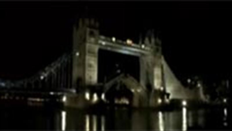 Robbie Madison jumps over London Tower Bridge 2011