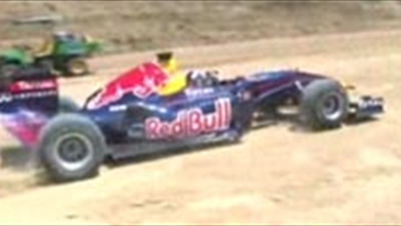 First roll-out on the Circuit of America by Red Bull Racing