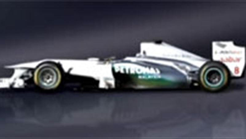 Mercedes GP Airbrush Paint Job for W02 of 2011