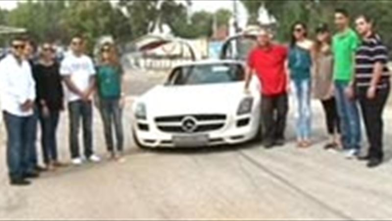 Mercedes-Benz SLS AMG co-drive with Nadim Mehanna